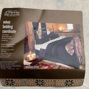 JCPenney home collection purple velvet drapes